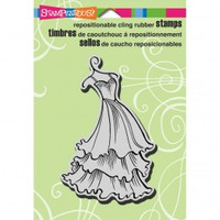 Stampendous Cling Rubber Stamp - Tiered Dress
