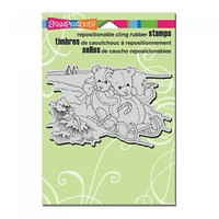 Stampendous Cling Rubber Stamp - Bear Sled