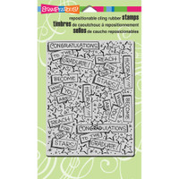 Stampendous Cling Rubber Stamp - Graduation Background