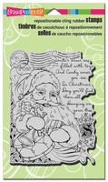 Stampendous Cling Rubber Stamp - Santa Collage