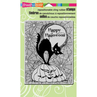 Stampendous Cling Rubber Stamp - Pumpkin Cat