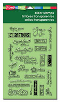 Stampendous Cling Rubber Stamp - Holiday Words
