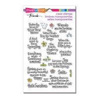 Stampendous Cling Rubber Stamp - Spring Sentiments