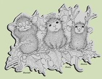 Stampendous Cling Rubber Stamp - Christmas Characters