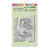 Stampendous Cling Rubber Stamp - Candle Carolers