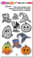 Stampendous Cling Rubber Stamp - Halloween Hats