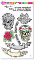 Stampendous Cling Rubber Stamp - Sugar Skull
