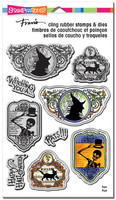 Stampendous Cling Rubber Stamp - Halloween Labels