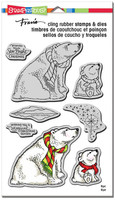 Stampendous Cling Rubber Stamp - Polar Bears