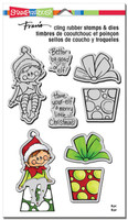 Stampendous Cling Rubber Stamp - Seated Elf