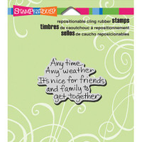 Stampendous Cling Rubber Stamp - Anytime