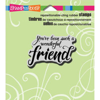 Stampendous Cling Rubber Stamp - Penned Friend