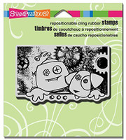 Stampendous Cling Rubber Stamp - Screwy Pals