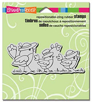 Stampendous Cling Rubber Stamp - Chick Parade
