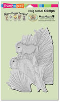 Stampendous Cling Rubber Stamp - Birdie Bow