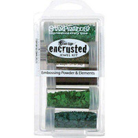 Stampendous Encrusted Jewel Kit 5/Pkg - Green