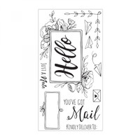 Sizzix Interchangeable Clear Stamps By Katelyn Lizardi - You've Got Mail