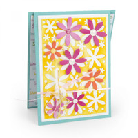 Sizzix Framelits Die Set 4PK By Stephanie Barnard - Card, Flowers Drop-ins