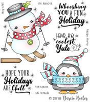 Darcie's Heart & Home Cling Stamp Set - Chill Holidays
