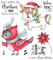Darcie's Heart & Home Cling Stamp Set - Season To Sing