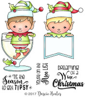 Darcie's Heart & Home Cling Stamp Set - Tipsy Season