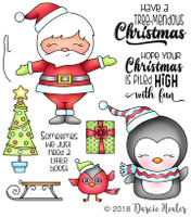 Darcie's Heart & Home Cling Stamp Set - Tree-mendous Santa