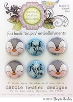 Darcie's Heart & Home Tin Pins - Thank You