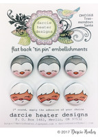 Darcie's Heart & Home Tin Pins - Tree-mendous Santa