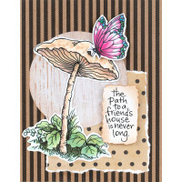 Stampendous Cling Stamps and Dies Bundle - Little Mushroom