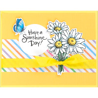Stampendous Cling Stamps and Dies Bundle - Sunshine Daisy
