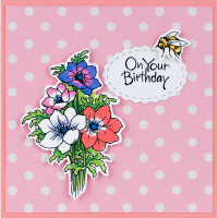 Stampendous Cling Stamps and Dies Bundle - Anemone Smile