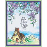 Stampendous Cling Stamps and Dies Bundle - Wisteria Cottage