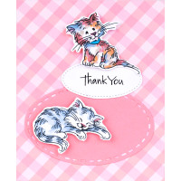 Stampendous Cling Stamps and Dies Bundle - Purrfect Friends
