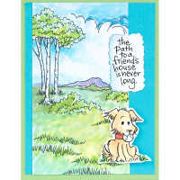 Stampendous Cling Stamp - Scenic Meadow