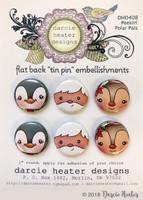 Darcie's Heart & Home Tin Pins - Peekin' Polar Pals