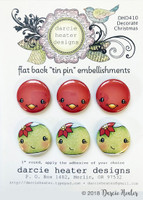 Darcie's Heart & Home Tin Pins - Decorate Christmas