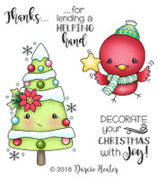 Darcie's Heart & Home Cling Stamp Set - Decorate Christmas