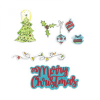 Sizzix Framelits Die Set 13PK With Stamps By Courtney Chilson - Christmas Doodles