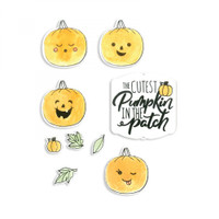 Sizzix Framelits Die Set 11PK With Stamps By Katelyn Lizardi - Cutest Pumpkin