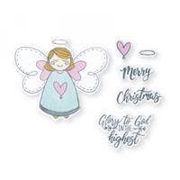 Sizzix Framelits Die Set 8PK With Stamps By Katelyn Lizardi - Angel, Glory in the Highest