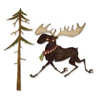 Sizzix Thinlits Die Set 7PK By Tim Holtz - Merry Moose