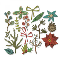 Sizzix Thinlits Die Set 16PK By Tim Holtz - Funky Festive