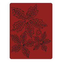 Sizzix Texture Fades Embossing Folder By Tim Holtz - Tattered Poinsettia