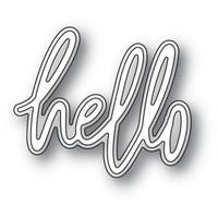 Memory Box Jotted Script Dies - Hello
