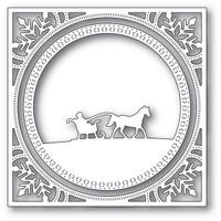 Memory Box Dies - Sleigh Horse Frame