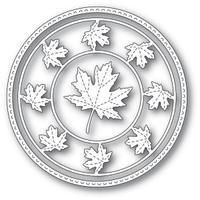 Memory Box Dies - Stitched Maple Circle