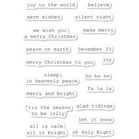 Memory Box Clear Stamps - Typewriter Holiday Sentiments