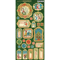Graphic 45 Chipboard Decorative & Journaling Die-Cuts - Christmas Magic