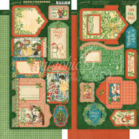 Graphic 45 Cardstock Tags & Pockets Die-Cuts - Christmas Magic