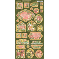 Graphic 45 Chipboard Decorative & Journaling Die-Cuts - Garden Goddess